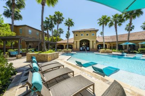 Three Bedroom Apartments for Rent in Northwest Houston, TX -Pool Area with Tanning Shelf